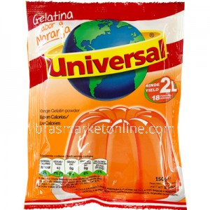 Universal Gelatina sabor Naranja (Laranja) - 150g