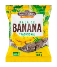 Bala de Banana Tradicional 160g Da Colônia