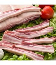 Costela de Porco com Couro e sem Osso Fatiado - COD.8170