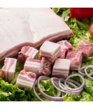 Costela de Porco sem Couro sem Osso em Cubos - Preço por kg COD.8177