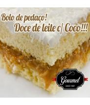 Bolo de Pedaço Doce de Leite c/ Coco -  Gourmet ( De Quinta ~ Domingo)