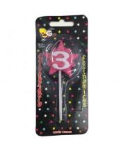 Festhamires Vela para Aniversário Estrela Rosa n.3