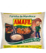 Farinha de Mandioca Branca Du Norte 1kg Amafil