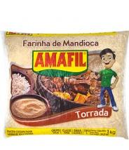Farinha de Mandioca Torrada 1kg Amafil