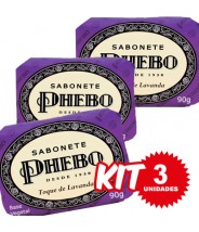 (((Kit c/ 3 uni))) Phebo Sabonete em Barra Toque de Lavanda- 90g