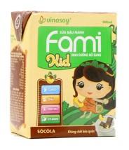 Lốc sữa đậu Nành Hộp チョコレート 200ml Fami kids